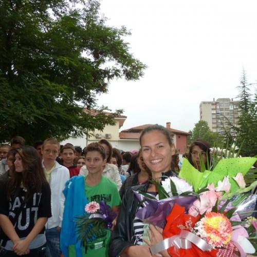 Нашият 8б клас с класен ръководител г-ца Христа Димитрова