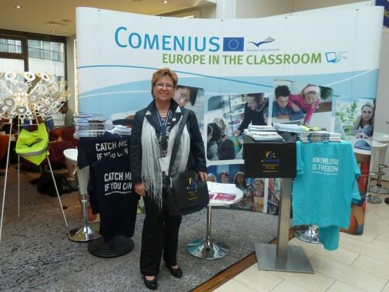 Стефка Дамянова – главен учител в НГПИД на конференцията в Берлин