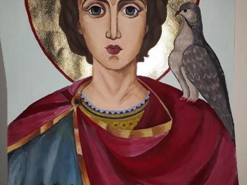 """Рисунката на Кристияна от конкурса ,,Св. Трифон Зарезан"""""""